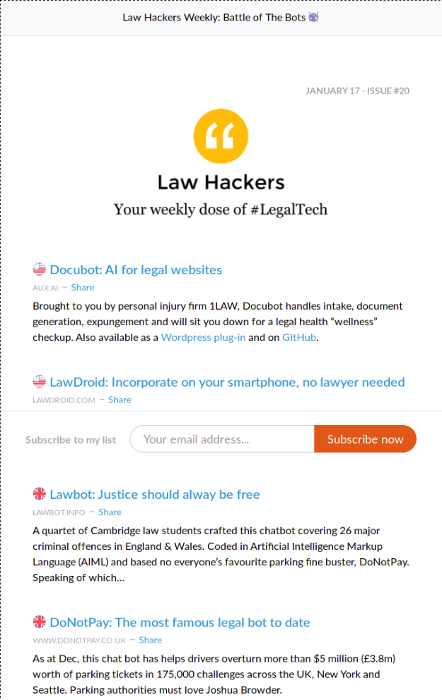 Law Hackers Weekly  Battle of The Bots 👾   Revue.png