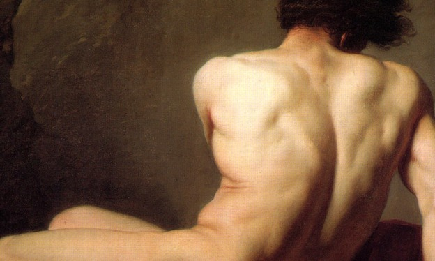 Detail from Patroclus by Jacques Louis David, 1780. Courtesy Wikipedia
